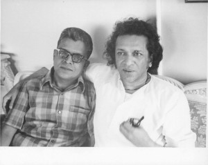 Ravi Shankar with the author during an interview.